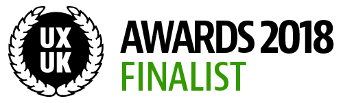 UX UK Awards finalist logo